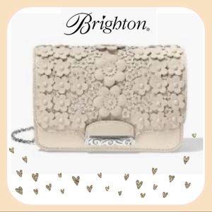 Brighton Snappy Flap Crossbody -White Ginger